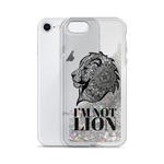I'm Not Lion Liquid Glitter Phone Case