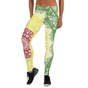 Red, Yellow, Green Leggings