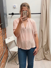 Load image into Gallery viewer, Laurie V-Neck Blouse in Blush