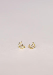 Minimalist Moon Earrings
