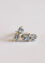 Load image into Gallery viewer, Silver Druzy Bar Studs