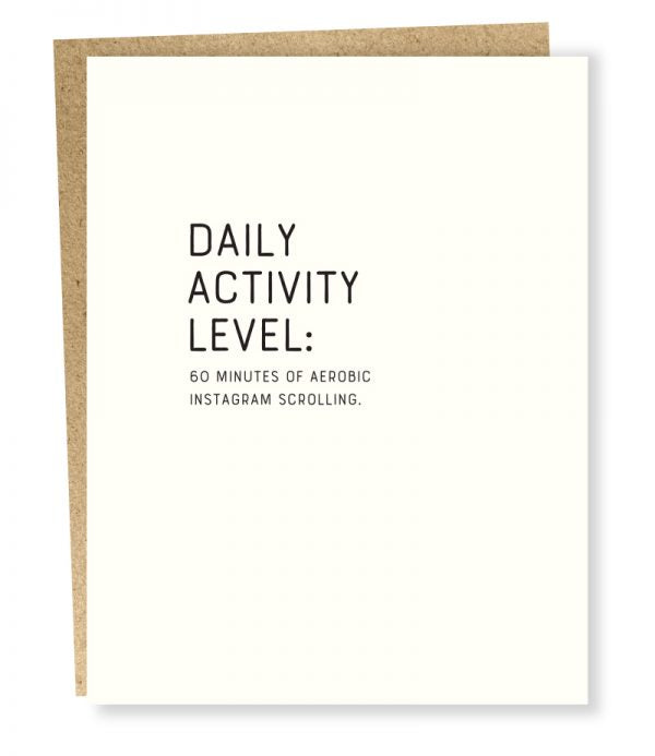 Daily Activity Level Card