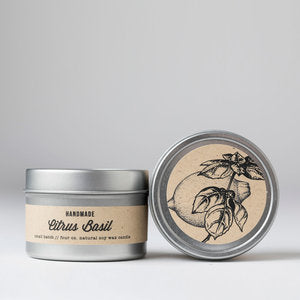 Citrus Basil: Travel Tin Candle