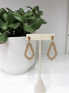 Anna Marquise Earrings in Gold