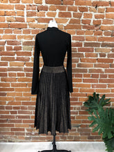 Load image into Gallery viewer, Gracie Pleated Skirt in Bronze Metallic