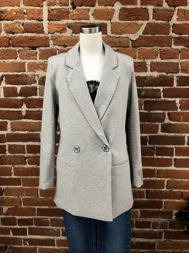 Fondue Blazer in Heather Grey