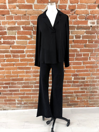 Tucker Blouse in Black