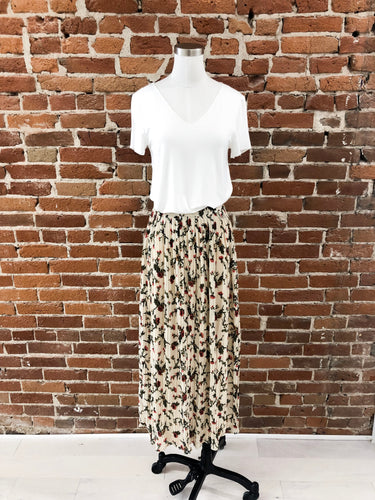 Arizona Pleated Skirt in Floral