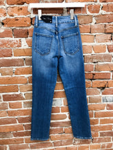 Load image into Gallery viewer, Sylvia Double-Button Straight Leg Jeans in Medium Wash
