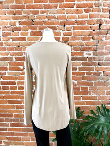 Everyday Long Sleeved Tee in Cocoa