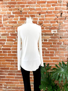 Everyday Long Sleeved Tee in Ivory