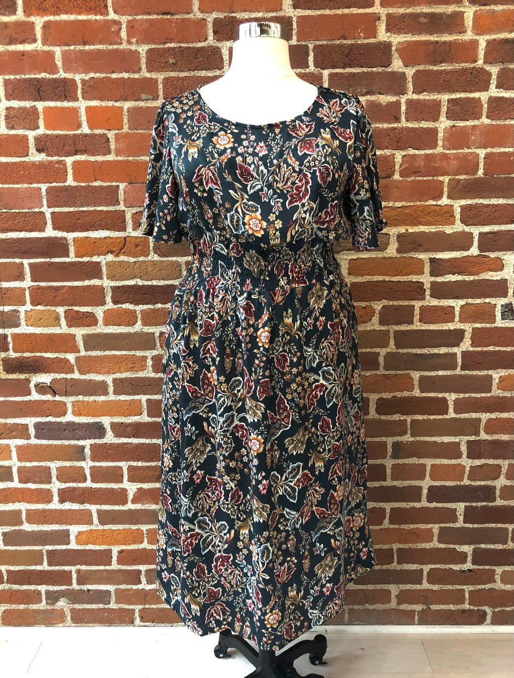 Britt Teal Floral Dress - FINAL SALE