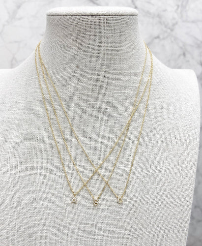 Sparkle Initial Necklace -