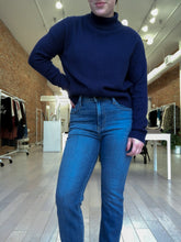 Load image into Gallery viewer, Mason Mock Neck Knit Sweater in Navy - FINAL SALE