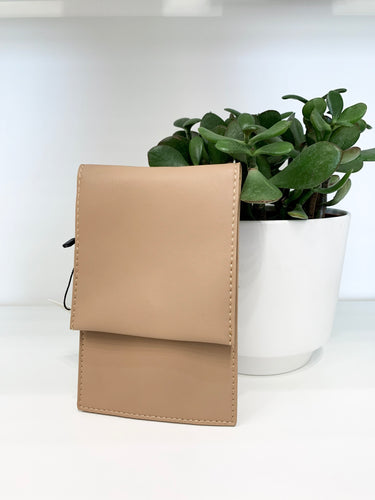 Cell Phone Crossbody in Beige