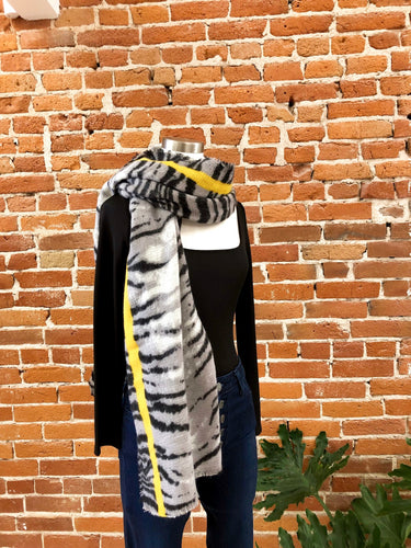 Antonia Scarf in Grey Tiger