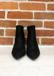 Begonia Kitten Heel Booties in Black - FINAL SALE