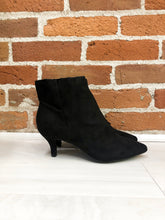Load image into Gallery viewer, Begonia Kitten Heel Booties in Black - FINAL SALE
