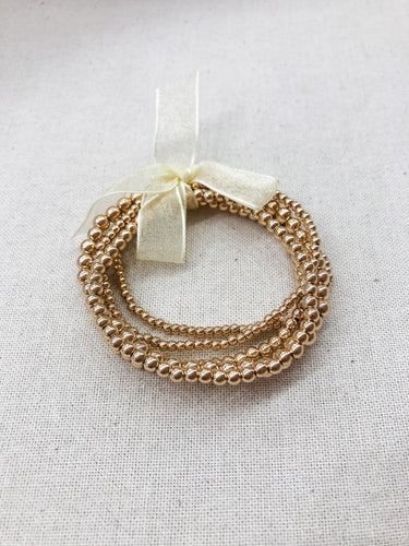 Metal Ball Bracelet in Gold