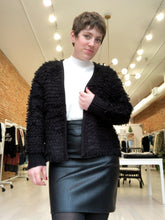 Load image into Gallery viewer, Lee Knit Looped Black Cardigan - FINAL SALE
