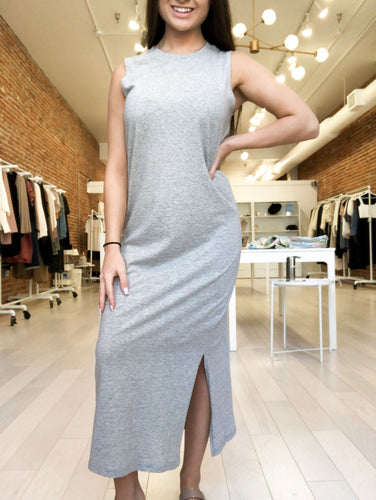 Harmony Dress in Heather Grey and Black