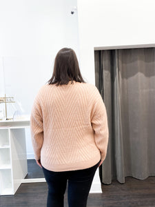 Maribel Sweater in Blush - FINAL SALE
