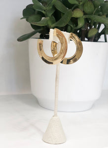 Paddle Hoop Earrings in Gold - FINAL SALE