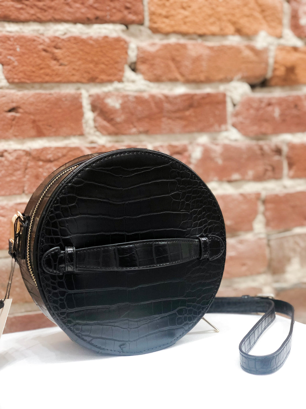 Sawyer Black Box Round Crossbody
