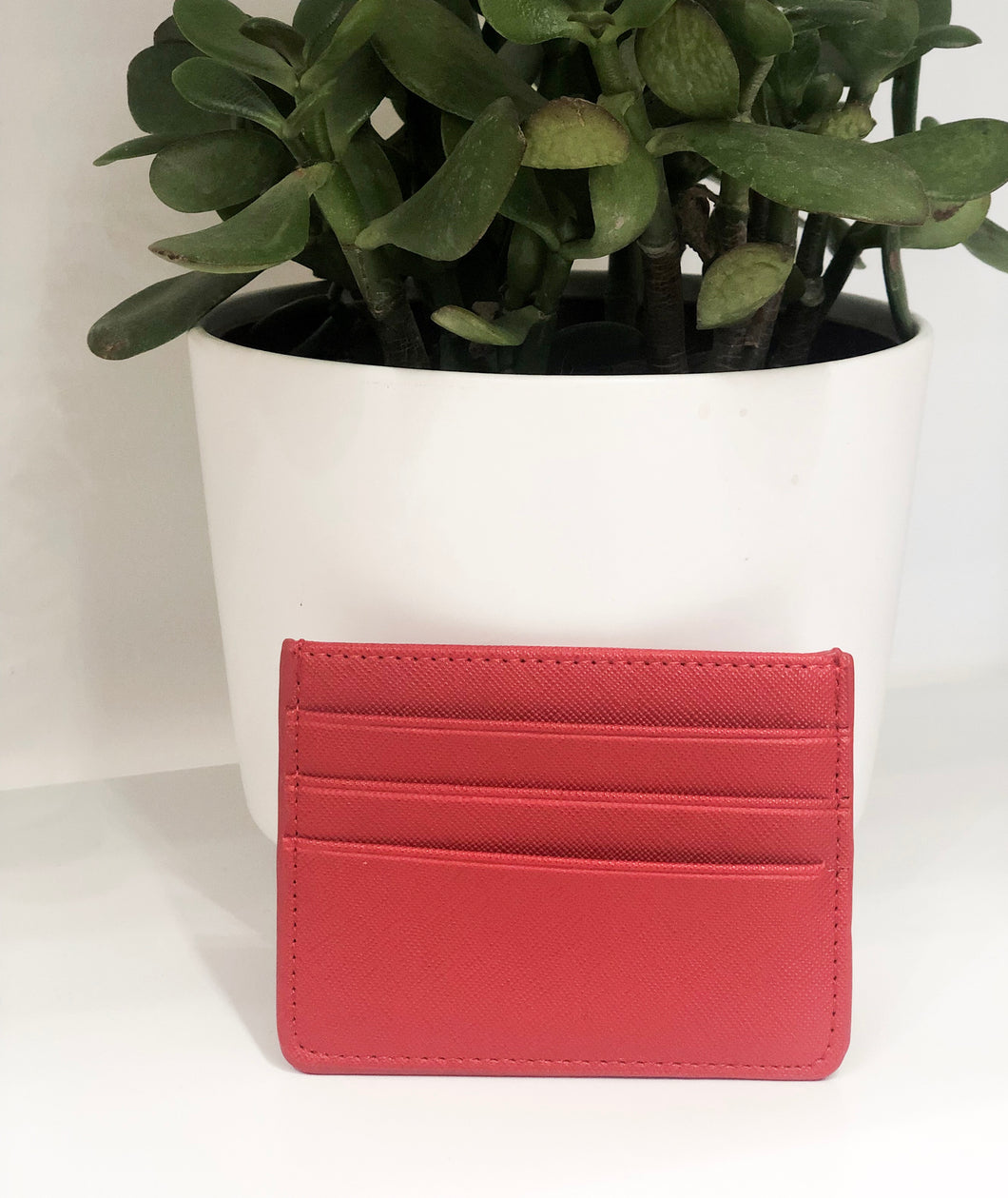 Skinny Card Case in Red