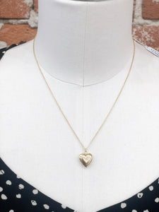 Heart Locket Necklace in Gold