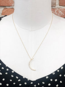 Waning Moon Pave Necklace