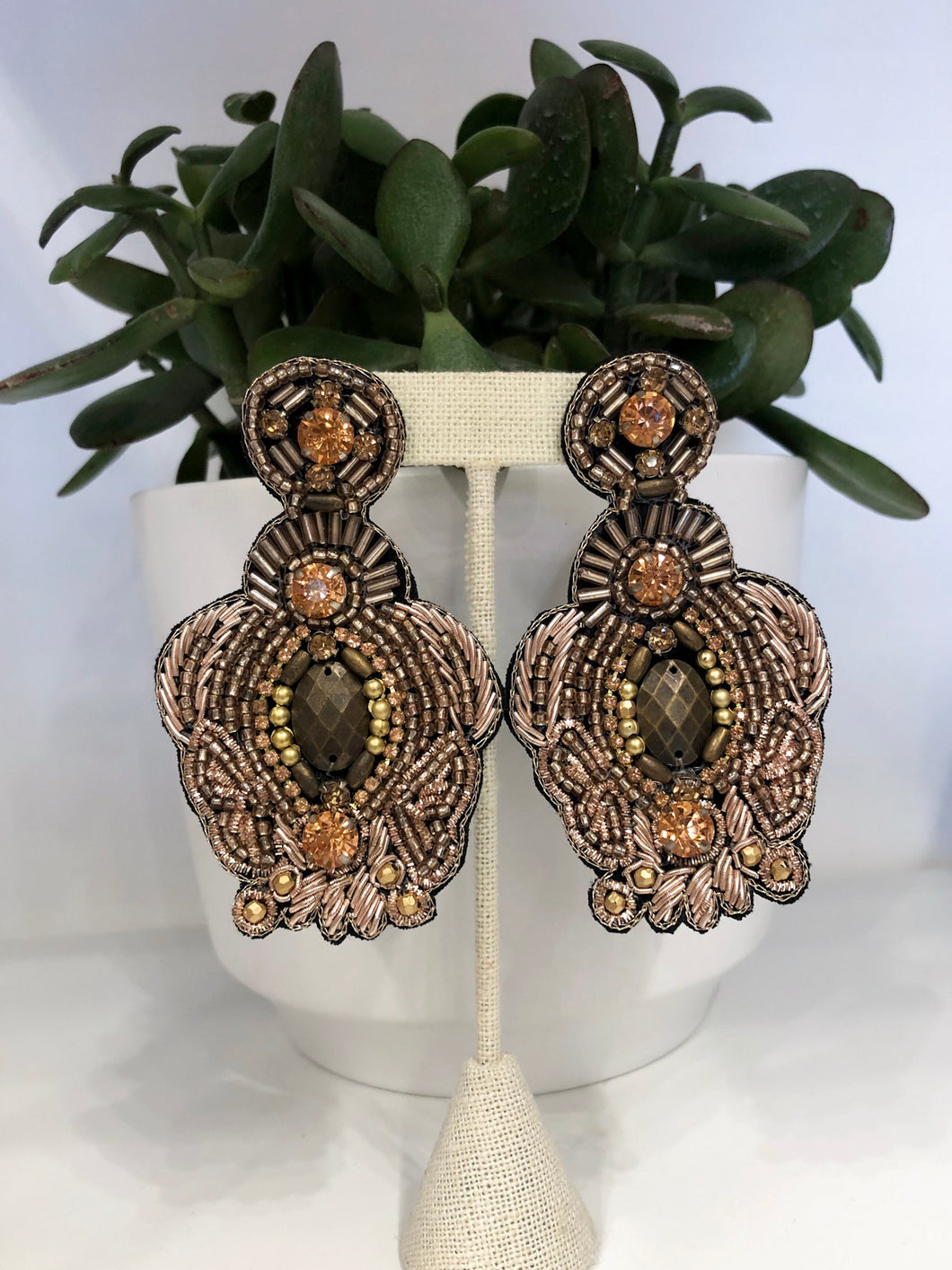 Armando Earrings in Rose Gold