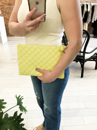 O'Connor Quilted Clutch in Sunshine