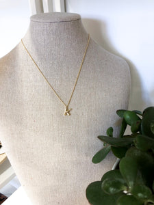 Bamboo Initial Necklace - K