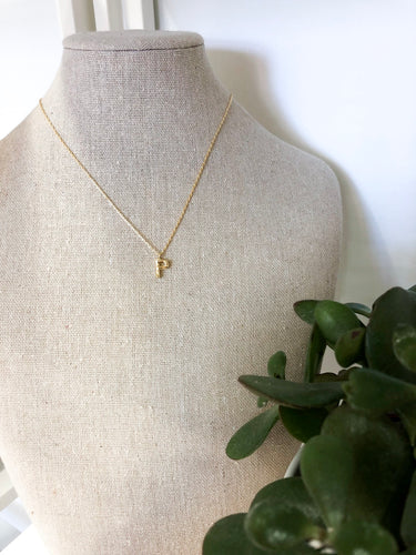 Bamboo Initial Necklace - P