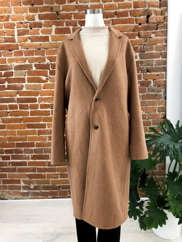 Vicente Handstitched Coat in Camel