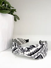 Load image into Gallery viewer, Bennie Bandana Headband in White