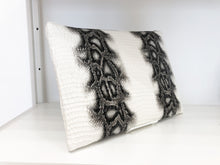 Load image into Gallery viewer, Showstopper Large Clutch in White Snake Print