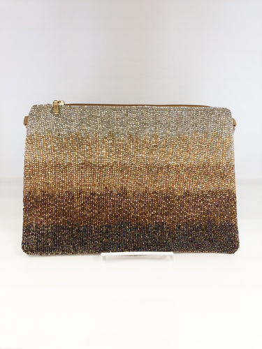 Mandi Beaded Clutch in Gold Ombre