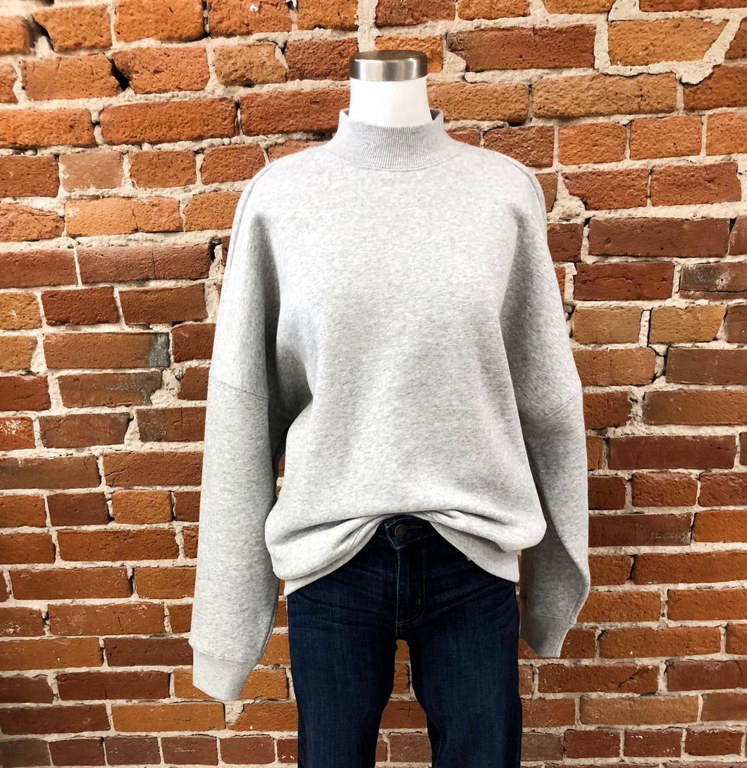 Troy Sweater in Heather Grey