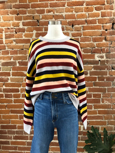 Well Made Crew Sweater in Rainbow