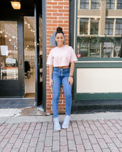 Load image into Gallery viewer, Tori Cropped Tee in Blush