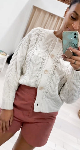 The Link Cardigan in Ivory - FINAL SALE