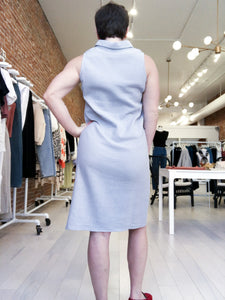 Anne Collared Dress in Dove Grey