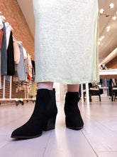 Load image into Gallery viewer, Helanna Black Suede Booties