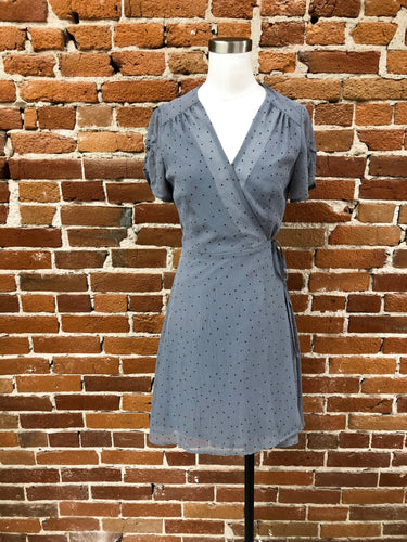Reina Dress in Dusty Blue