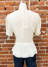 Load image into Gallery viewer, Joseline Blouse in Cream Dots