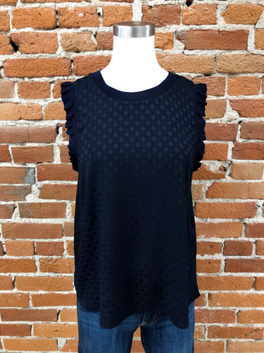 Clairee Tank in Navy Dots