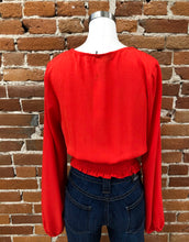 Load image into Gallery viewer, La Quinta Lace Blouse in Red