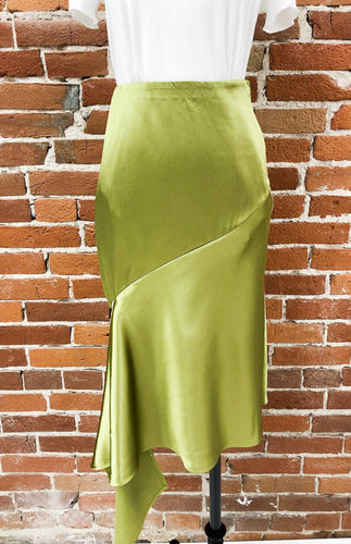 Charlie Ruffle Skirt in Chartreuse